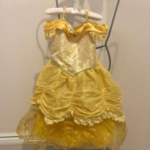 Authentic Disney's Bell costume with hair clips